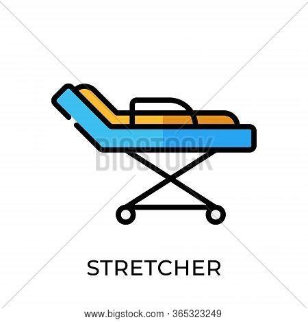 Stretcher. Stretcher icon. Stretcher vector. Stretcher icon vector. Stretchers illustration template. Stretcher logo design. Medical Stretcher vector icons. Stretchers vector icon flat design for web icons, logo, sign, symbol, app, UI.