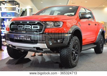 Pasay, Ph - Apr 7 - Ford Ranger Raptor Pick Up At Manila International Auto Show On April 7, 2019 In