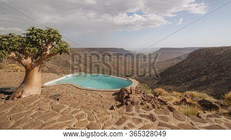 Namibia, Kunene Region, Damaraland, Grootberg Plateau Overlooking The Klip River Valley, Cyphostemma