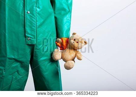Coronavirus Can Be Dangerous For Children Conceptual Stock Photo