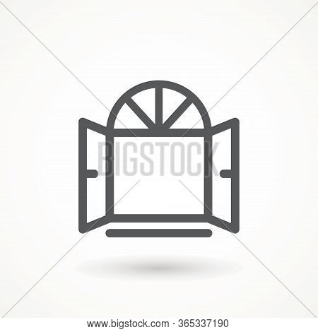 Opened Window Icon. Vector Creative Symbol In Linear Style Window Linear Icon - Vector Logo Design T