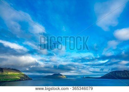 Spectacular View Of Faroe Islands Under Cloudscape