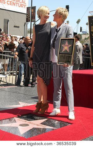 LOS ANGELES - SEP 4:  Ellen DeGeneres] at the Hollywood Walk of Fame Ceremony for Ellen Degeneres at W Hollywood on September 4, 2012 in Los Angeles, CA