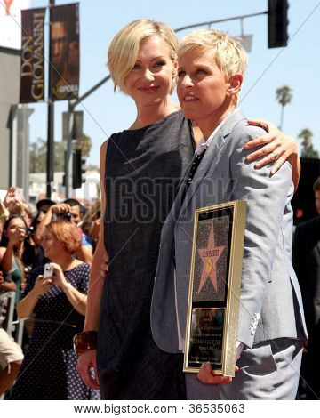 LOS ANGELES - SEP 4:  Portia DeRossi, Ellen DeGeneres at the Hollywood Walk of Fame Ceremony for Ellen Degeneres at W Hollywood on September 4, 2012 in Los Angeles, CA