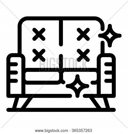Sofa Cleaning Icon. Outline Sofa Cleaning Vector Icon For Web Design Isolated On White Background