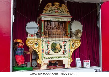 Llandudno, Uk : May 6, 2019: The Brand Name Orchestrophone Was Used By The Fairground Manufacturer L