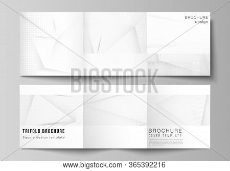 Vector Layout Of Square Covers Design Templates For Trifold Brochure, Magazine, Cover Design, Book D