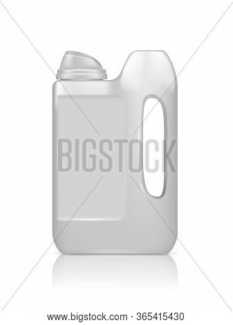 Realistic Jerry Can Mockup Isolated On White Background