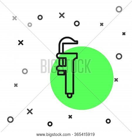Black Line Calliper Or Caliper And Scale Icon Isolated On White Background. Precision Measuring Tool
