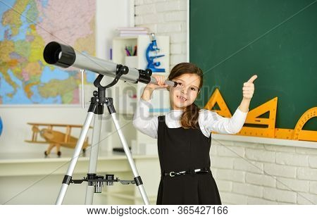 Observation Concept. Astronomy And Astrophysics. Stars And Galaxies. Study Telescope. School Astrono