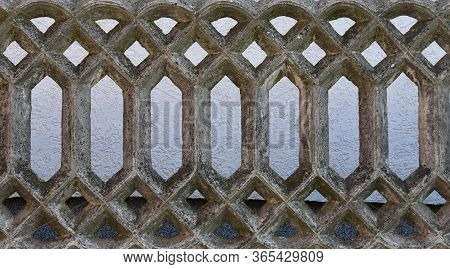 Antique Old Gray Stone Wall Fence Texture
