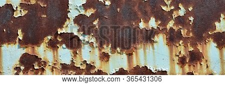Rusty Metal Texture On A Blue Surface