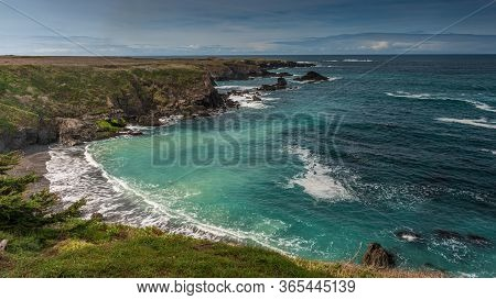 Long Exposure Of The Ocean From Mendocino Headlands State Park, Northern California, Usa, Featuring