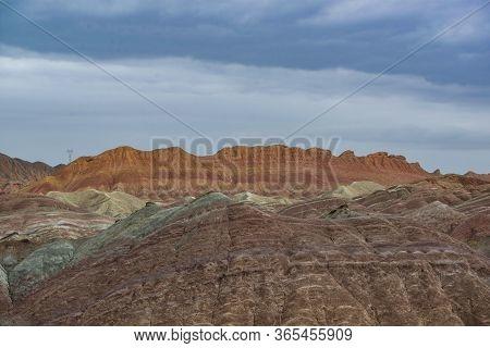 The Gorgeous Danxia Landform In Zhangye, Gansu