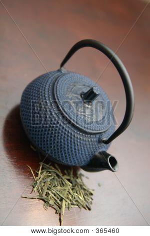Teapot And Green Tea