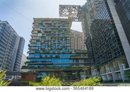 Sydney, Australia - January 26, 2020: One Central Park Award-winning Sustainable Green Building With