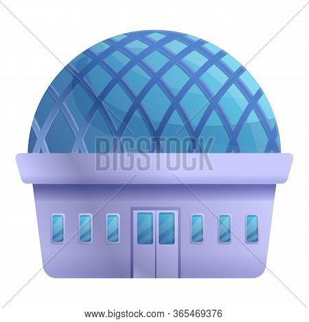 Planetarium Building Icon. Cartoon Of Planetarium Building Vector Icon For Web Design Isolated On Wh