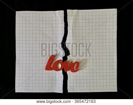 Torn Paper And The Inscription