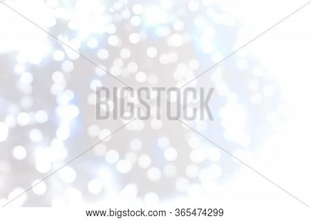 White Blur Abstract Background. Bokeh Blurred Beautiful Shiny.
