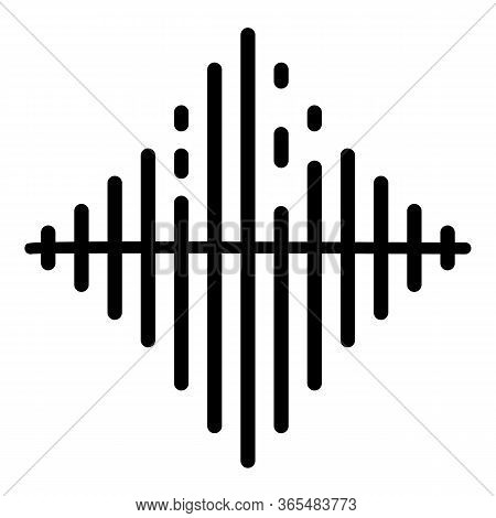 Audio Frequence Icon. Outline Audio Frequence Vector Icon For Web Design Isolated On White Backgroun