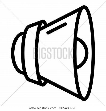 Loud Speaker Icon. Outline Loud Speaker Vector Icon For Web Design Isolated On White Background