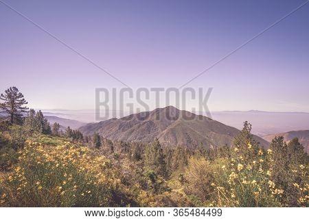 Big Bear,California view from mountain.