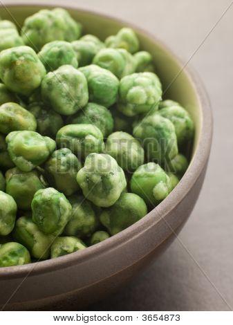 Bowl Of Dried Wasabi Peas