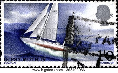 02.09.2020 Divnoe Stavropol Krai Russia Postage Stamp Great Britain 1967 One-man Voyage Around The W
