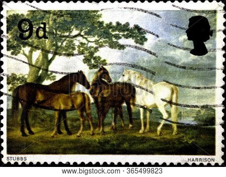 02 08 2020 Divnoe Stavropol Territory Russia Postage Stamp Great Britain 1967 Paintings By George St