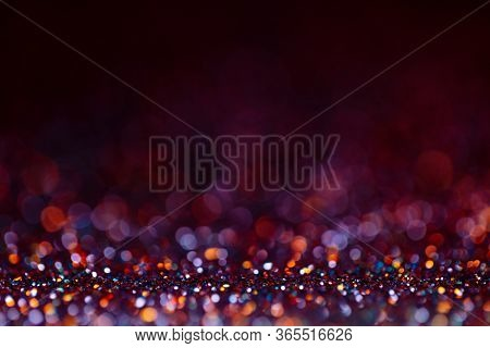 Decoration Bokeh Glitters Background, Abstract Shiny Backdrop With Circles, Modern Design Wallpaper