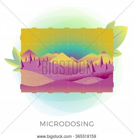 Microdosing Concept Illustration - Taking Ultra-low Doses Of The Psychoactive Substance Lsd-25 (less