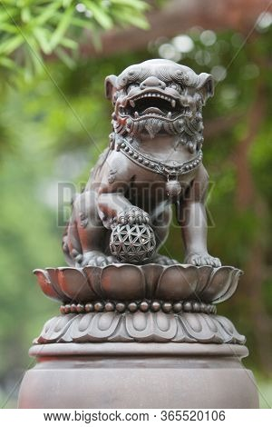 31 May 2008 Lion Statue  At The Nan Lian Garden,  Hong Kong