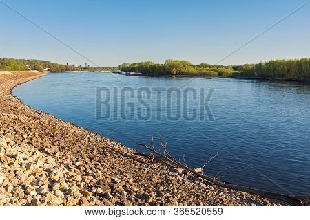 Rocky Banks And Islands Of Mississippi River Through South Saint Paul