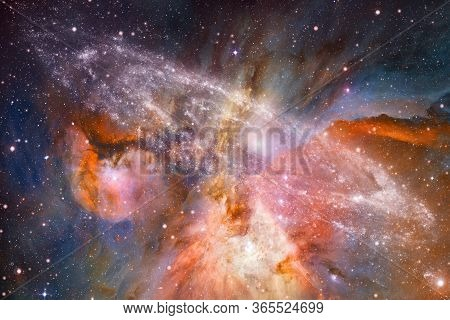 Cluster Of Stars In Deep Space. Milky Way Galaxy. Elements Of This Image Furnished By Nasa.
