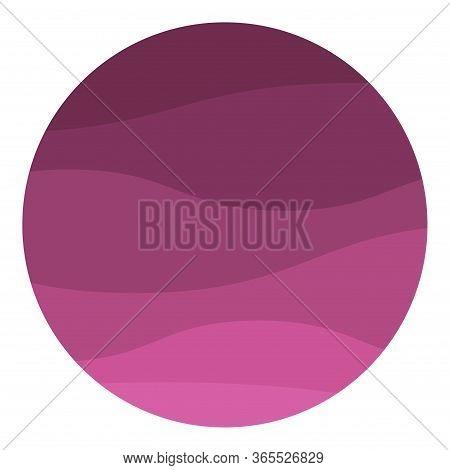 Purple Zigzag Wave Line. Aque Graphic, Abstract Background.  Modern Flat Design