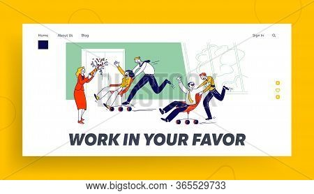 Corporate Activity, Laziness, Employees Competition, Challenge And Fooling Landing Page Template. Ha