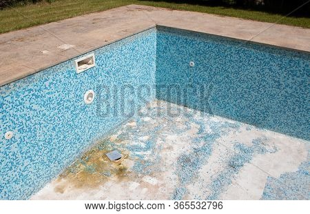 Construction Work On An Old Swimming Pool