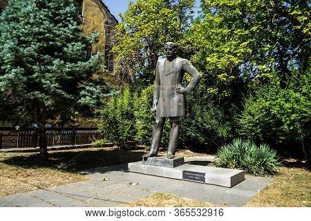 Veliko Tarnovo, Bulgaria - August 31, 2019: Equestrian Statue Of Nikola Piccolo, Bulgarian Scientist