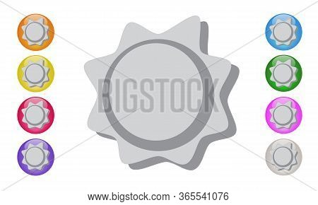 Badge Icon, Price Tag, With Shadow 3d. Medal Or Award Symbol, For Logo, Seal, Symbol, Web Design, St