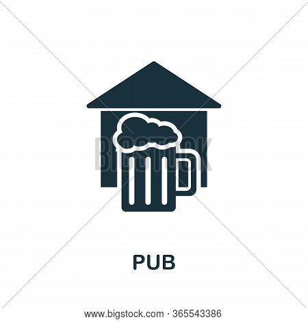 Pub Icon. Simple Illustration From Night Club Collection. Creative Pub Icon For Web Design, Template
