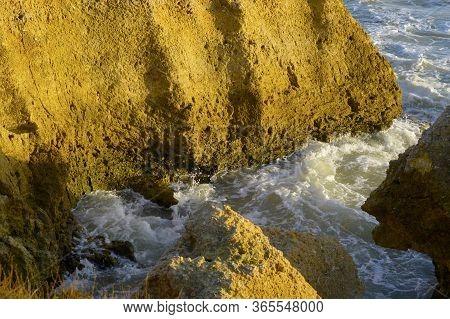 Spectacular Rock Formations On Sietskes Coast On The Algarve Coast