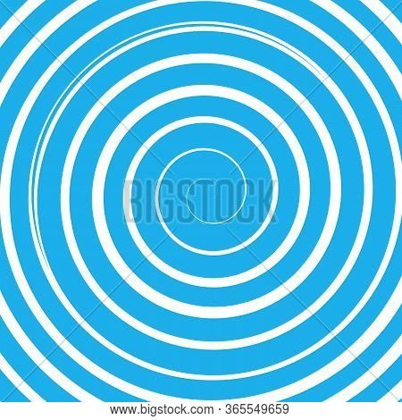 Blue Vector Radial Curve Spiral Twirl Background. Hypnotic, Dynamic Vortex Object. Stock Vector Illu