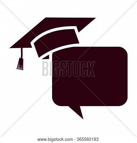 Graduation Cap And Diploma Icon Simple Vector Sign And Modern Symbol. Graduation Cap And Diploma Vec