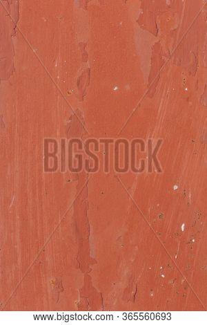 Detail Of Paint Peeling Of An Old Rusty Metal Gate
