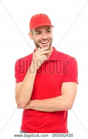Casual Trend You Should Try. Happy Man Smile Isolated On White. Handsome Guy In Casual Style. Casual