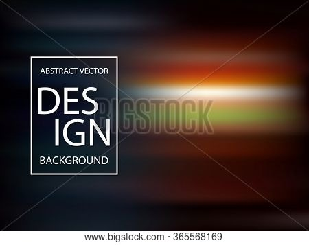 Vector Abstract Background In The Colors Of A Dark Sunset Sky.
