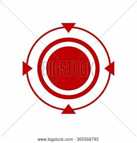 Abstract Target Icon Vector. Target Icon Image. Flat Target Icon. Target Icon Goal Vector Illustrati