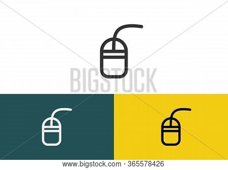 Computer Mouse Icon Symbol. Pc Mouse Icon Vector Isolated Illustration. Icon Computer Mouse Web. Mod