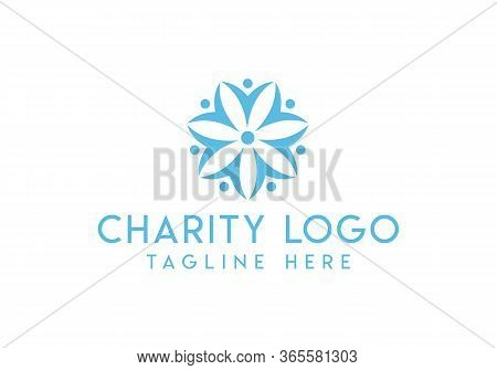 Vector Icon Or Logo. Unity And Collaboration Idea, Dream Team Of Business People Colorful Design.