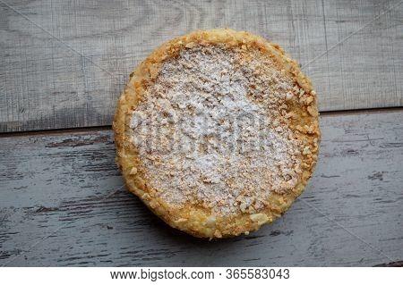 Pie Napoleon. Napoleon Cake. Dessert. Food Photography
